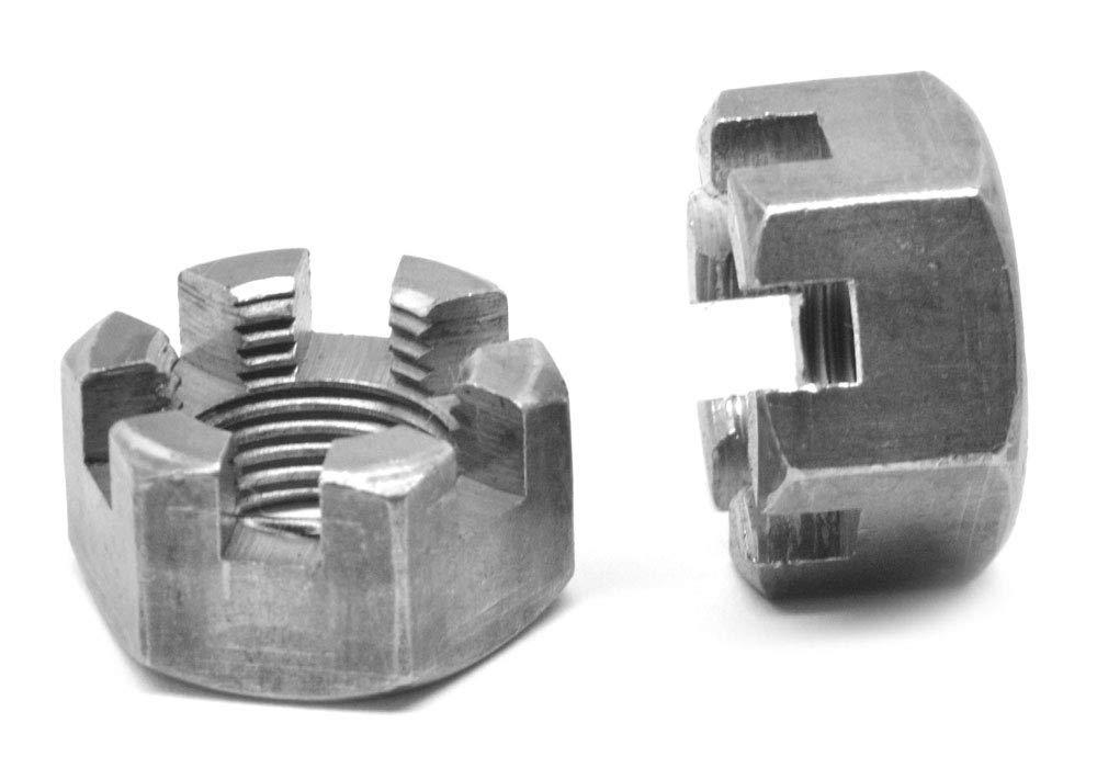 5//8-11 Coarse Thread Grade 5 Hex Jam Nut Left Hand Thread Medium Carbon Steel Plain Finish Pk 5
