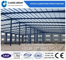 Light Color Warehouse Steel Frame Structure Warehouse/Workshop/Garage
