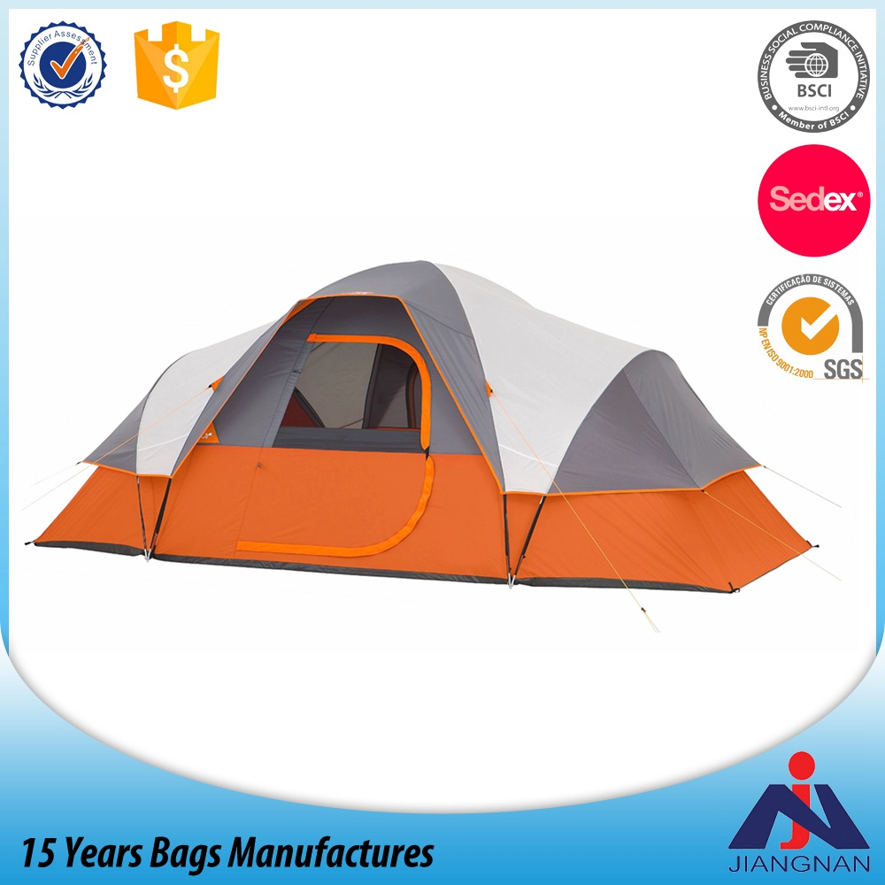 Outdoor hiking camping 9 person exterded dome tent