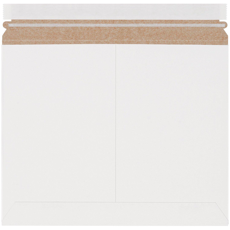 "Boxes Fast BFRMU129W Utility White Flat Mailers, 12 1/4"" x 9 3/4"", White (Pack of 200)"