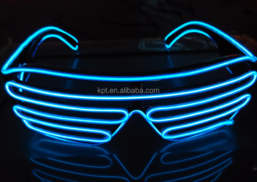 EL Light glasses, party/festival Flashing neon EL wire glasses