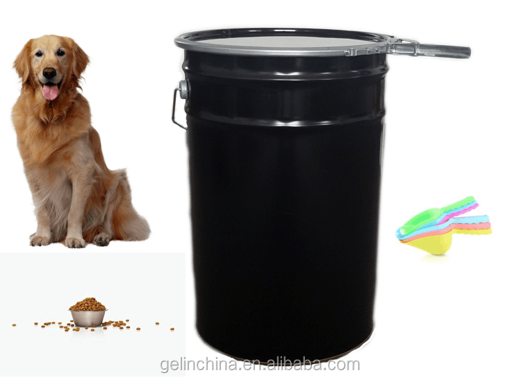 25 kg METAL BUCKET FOR DOG FOOD