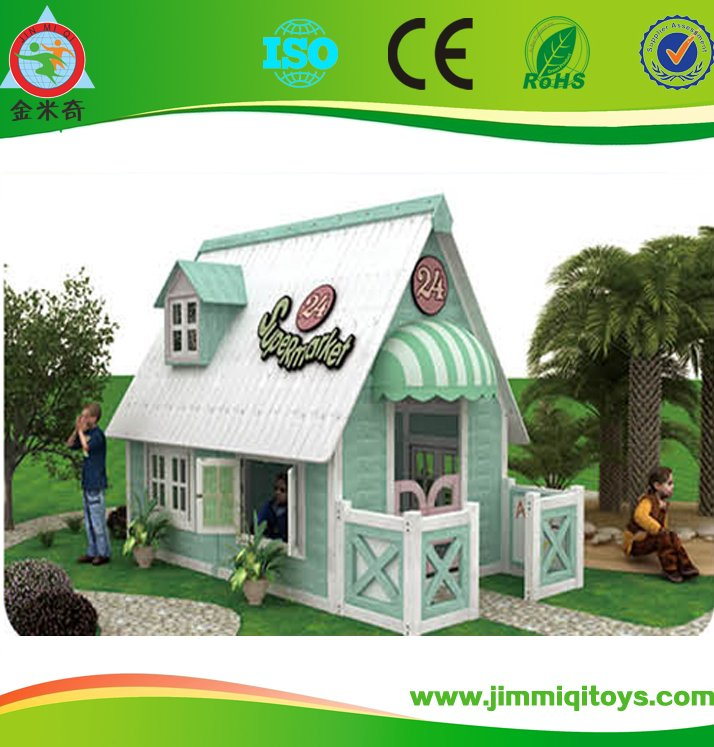 tiny kids playground wood prefabricated house from China