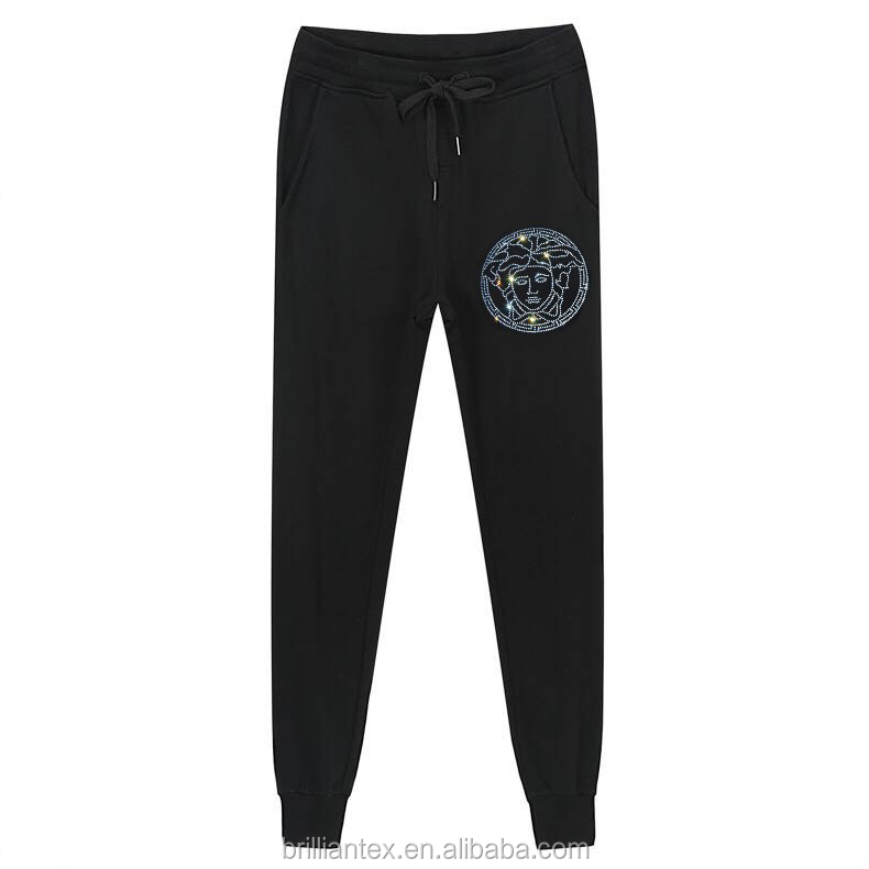 Custom your logos pants with Flashing of light logos on pants high quality for men