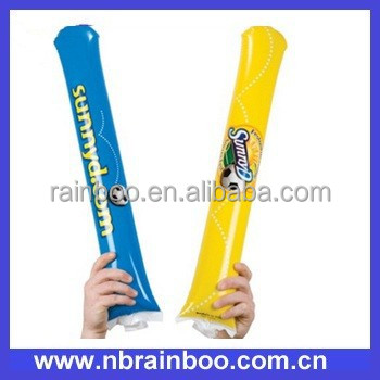 Hot selling Cheap promotional PE printed inflatable thunder stick ABMA205