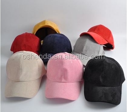 Winter promotion nice velour plain baseball caps