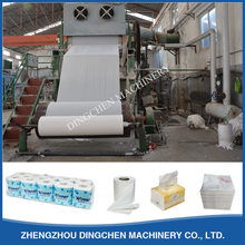 1575mm 3TPD high quality small facial tissue toilet paper product making manufacturing machine line price