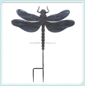 Large Dragonfly Silhouette Metal Garden Stake Wholesale