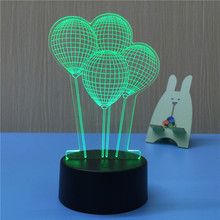 3D Led Lamps Balloon Shape Baby Night Light 3D night Light
