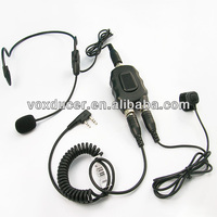 For Baofeng BF-666S BF-777S BF-888S behind head boom mic headphone