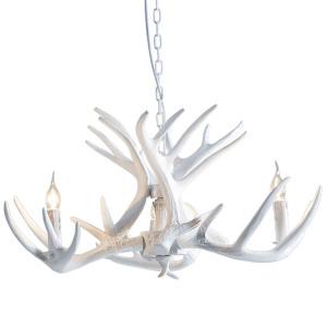 European ivory deer chandelier led ivory deer chandelier resin ivory deer chandelier