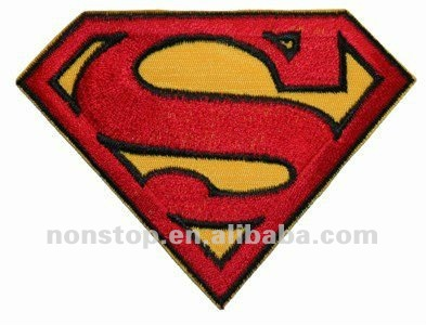 Superman S Chest Logo Embroidered Iron On Badge Applique Patch