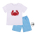 Hot sale kids boys appliqued animal print T shirt and shorts summer clothing set boutique boys outfits