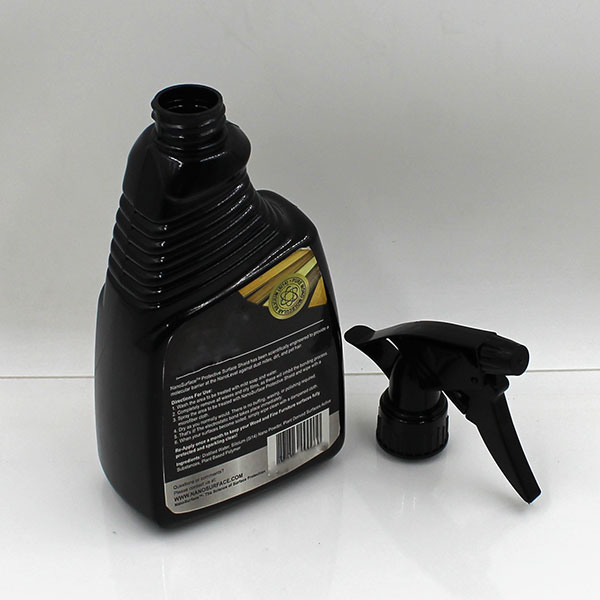 500ml flat disposable gray empty toilet cleaner bottle with trigger sprayer