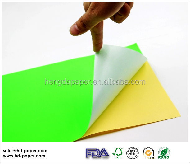 Colored Self Adhesive Paper