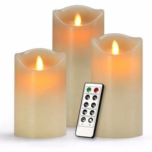 hot new products 2016 flameless moving wick led candle