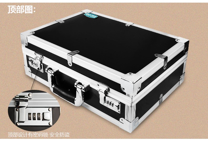 20 Inch Luxury Aluminum Edge Hard Shell Durable Outdoor Travel Storage Carrying Case w/ Custom EVA Foam for DJI Phantom 1/2 Quad