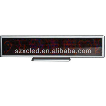 LED desk display sign Indoor dot-matrix Resolusion:16*128 P4 SMD All languages