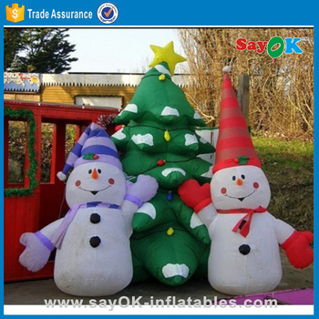 christmas tree giant outdoor commercial lighted and olaf inflatable snowman - Olaf Outdoor Christmas Decoration