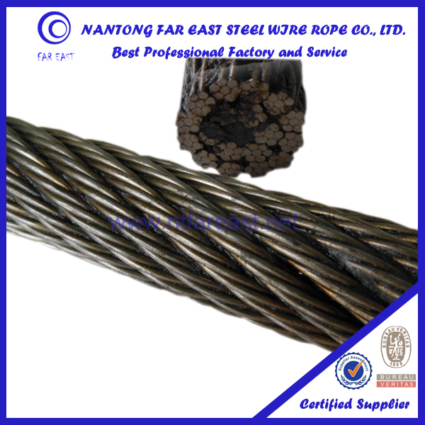 18*7+fc Ungalvanized Steel Wire Rope Price /non-rotating Wire Rope ...