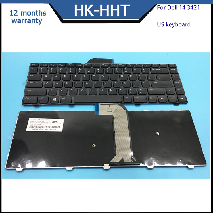 Replacement for DELL Inspiron 14 3421 14R 5421 US laptop keyboard