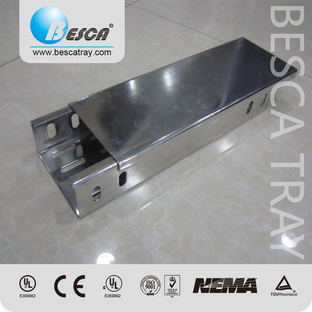 CE and UL certificated Galvanized Steel Electrical Cable Trunking