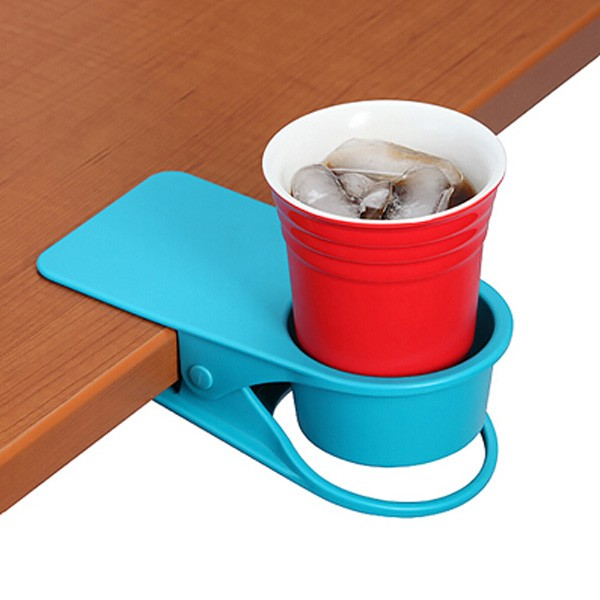 Glass Cup Clip Side Table Plastic Beer Cup Holder