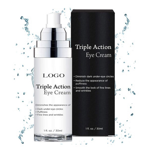Private Label Organic Anti Aging Triple Action Eye Cream
