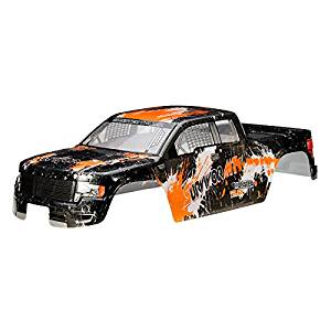 New HBX 1/12 12687 Monster Truck Body Shell Orange SURVIVOR MT Car Part By KTOY