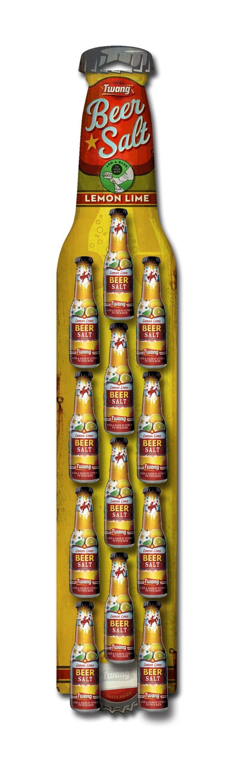 Twang the Original Beer Salt, Lemon-Lime, 1.4-Ounce Bottles (Strip of 12)