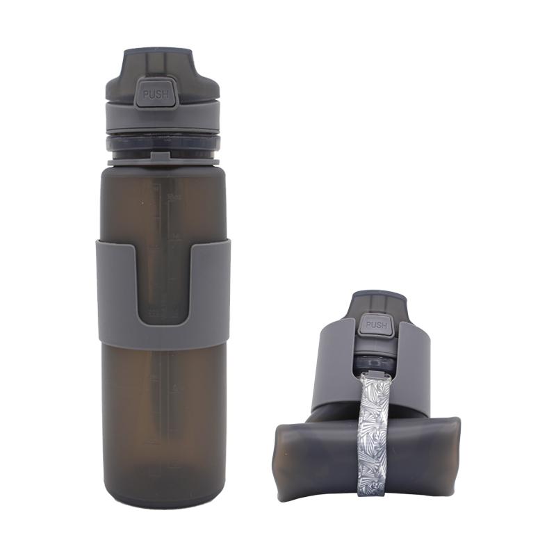 Bpa Free 500ml Luxury Outdoor Expandable Sport Silicone Colapsible Water <strong>Bottle</strong>