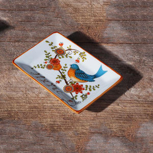 Classical special design Home Decorative Ceramic Jewelry Trinket Tray Dish For Gift