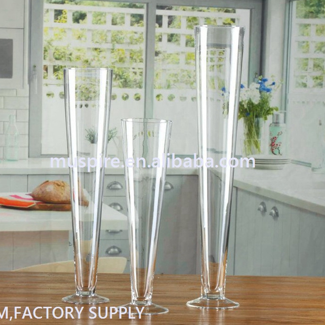 Various styles cheap wine glass vase for flowers arrangement