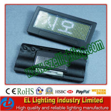 Different language led badge usb ,led message badge
