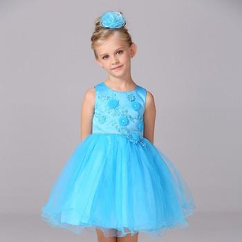 Normal Frock Design Girls Kids Korean Birthday Flower Dress For Girl Of 5