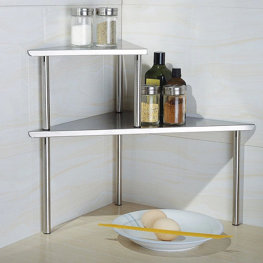 Buy Kitchen Counter Storage,Stainless Steel Corner Shelf 2 ...