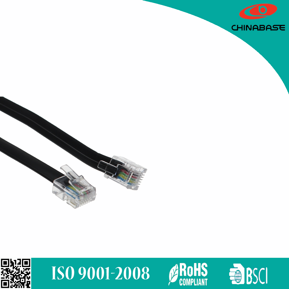 Chinabase best selling RJ11 modular plug telephone cord