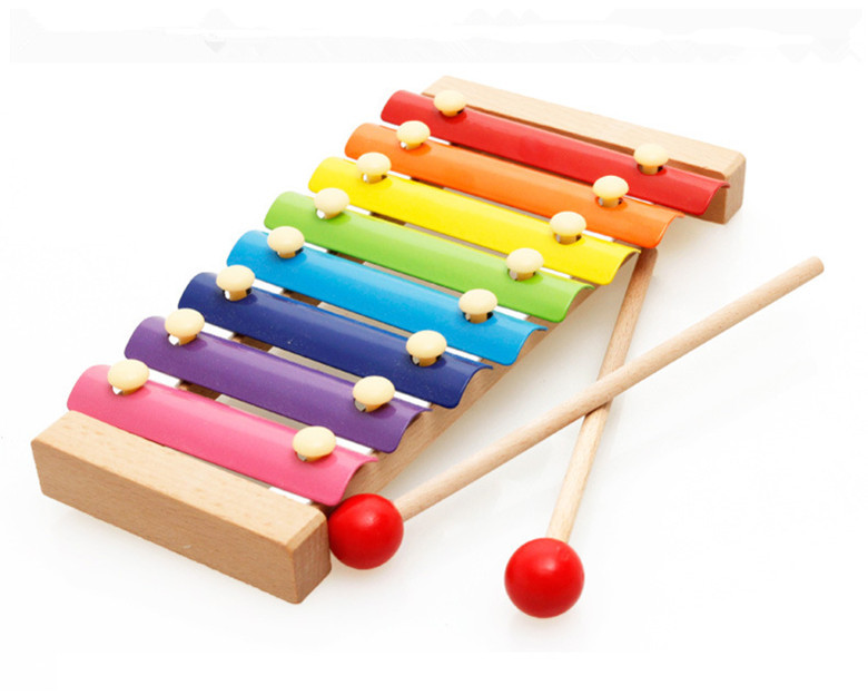 Wooden Kids Educational Xilophone With Drumsticks Musical