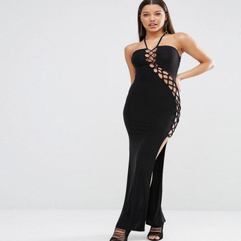 Sexy Dare Maxi Dress with Lattice Detail Bandage Ladies Club Night Mini  Dresses f2a2c99fd