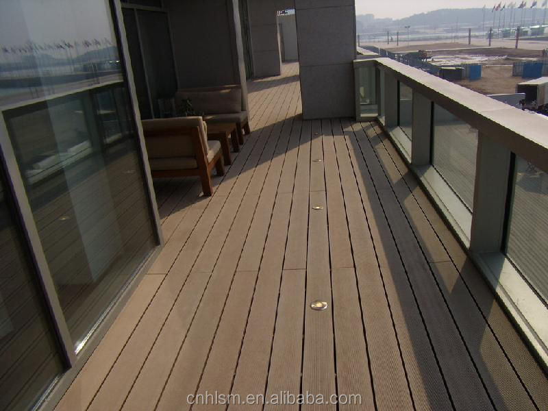 Durable High Performance Material Wood Plastic Composite Waterproof Balcony Flooring Engineered