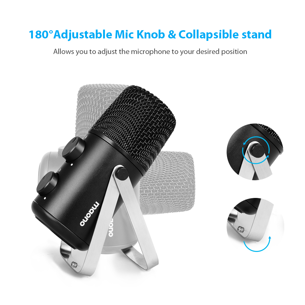 Well designed play game chatting desktop condenser microphone