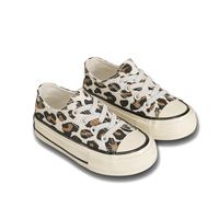 2019 Casual New Fashion Sport Leopard Custom Canvas Shoes Wholesale For School Boys And Girls