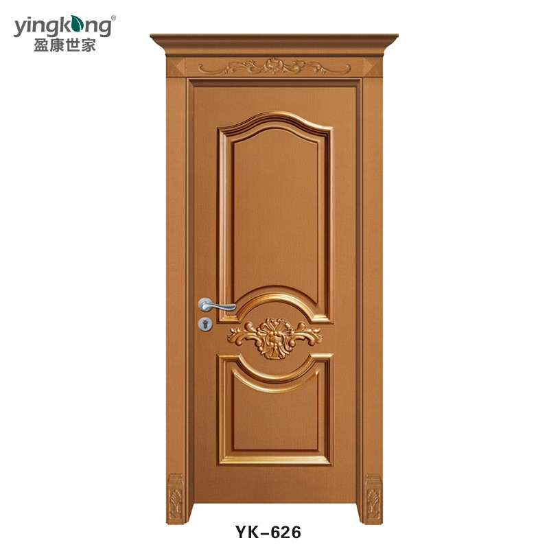 Yk626 Price China Suppliers Eco Friendly Latest Design Spanish Teak Wood Interior Doors Designs Room Door