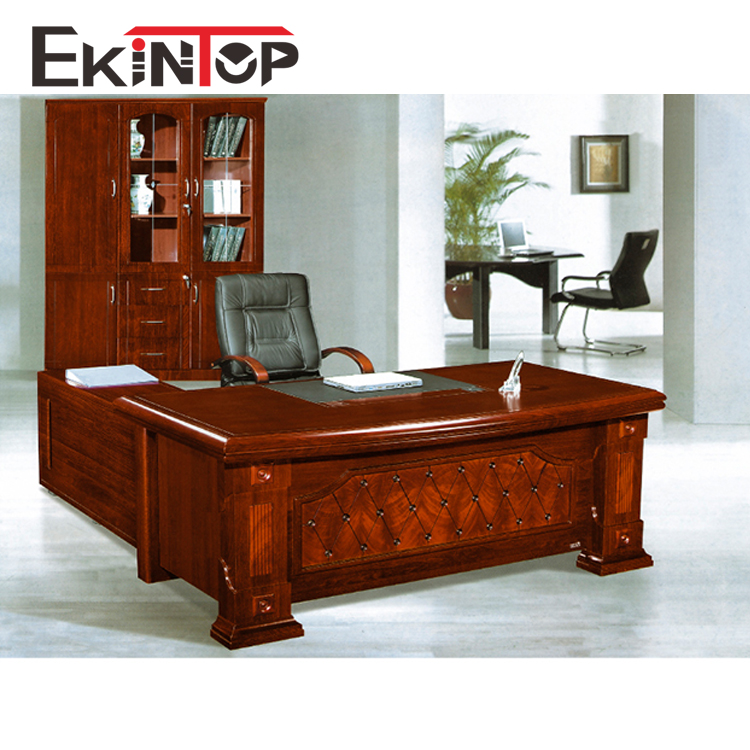 Modern mdf painting l shaped boss ceo manager office desk executive wooden office table for office furniture