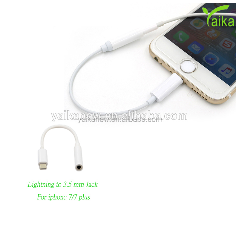 Yaika 3.5mm Connectors Jack Wired Communication Earphone Adapter for Iphone 7