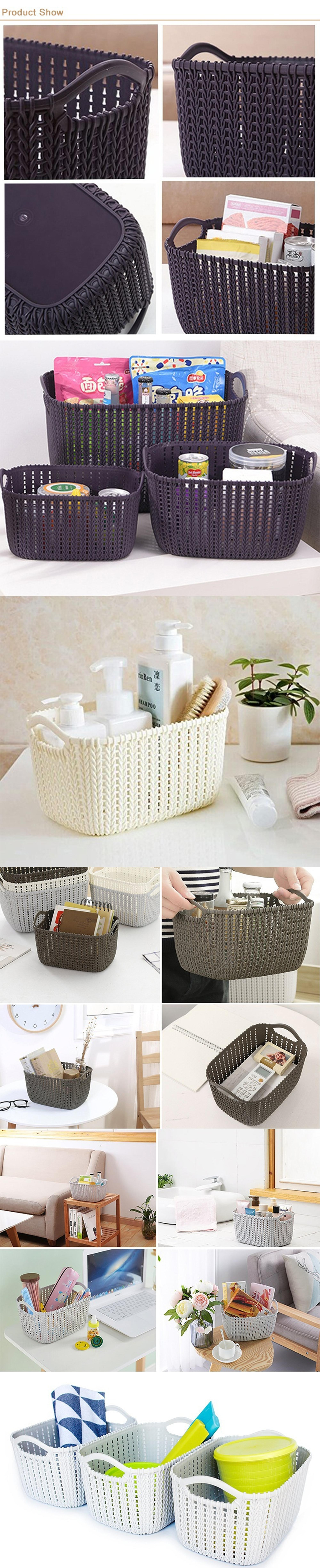 Small White Color Rectangle Picnic Moses Baby Bassinet Laundry Hamper Wicker Basket