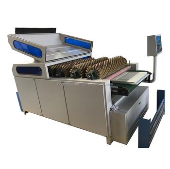 Wood Floor MDF Cabinet Furniture Wire Brush Roller Machine / Sandpaper  Strips Polishing Machine