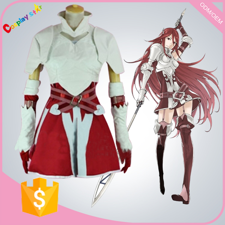 Game Fire Emblem Awakening Cordelia Cosplay Costume Adult Women's Carnival Party Dress all size for free shipping