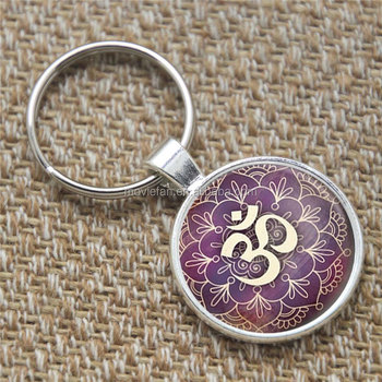 Om keyring yoga jewelry purple lotus flower om symbol buddhism zen om keyring yoga jewelry purple lotus flower om symbol buddhism zen henna art keyring flower print mightylinksfo