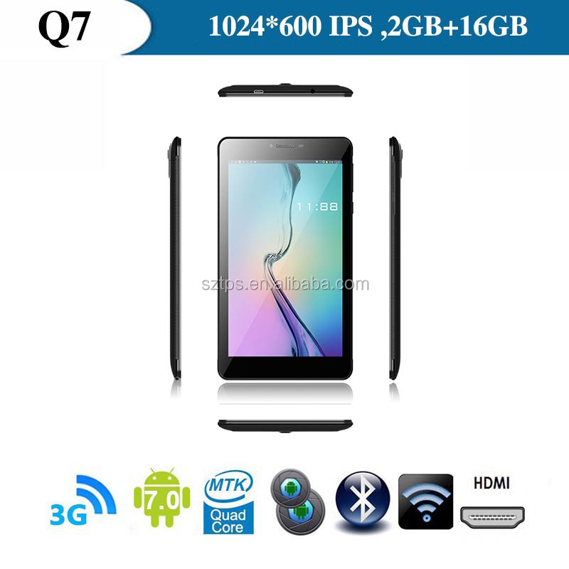 China 7'' android 3G phone calling Qaulity Custom Made Tablets ,7inch android tablet